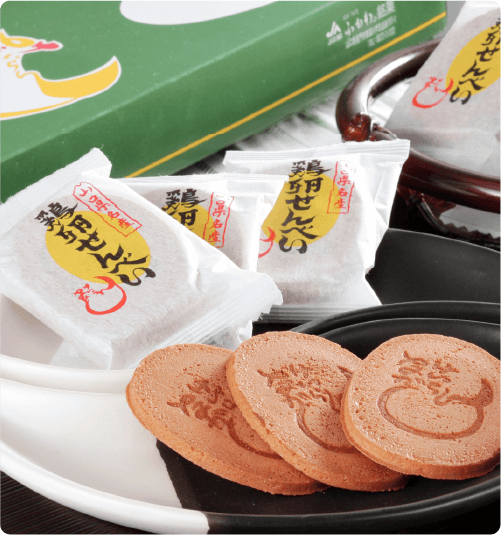 山口銘菓鶏卵せんべいプレゼント