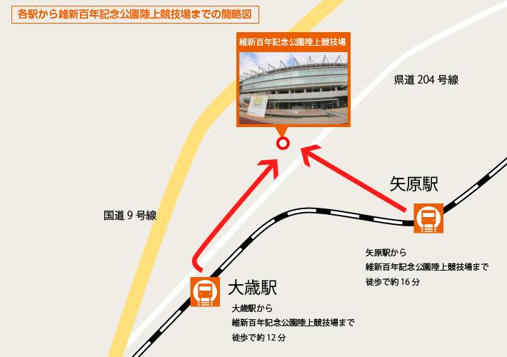 各駅から簡略図