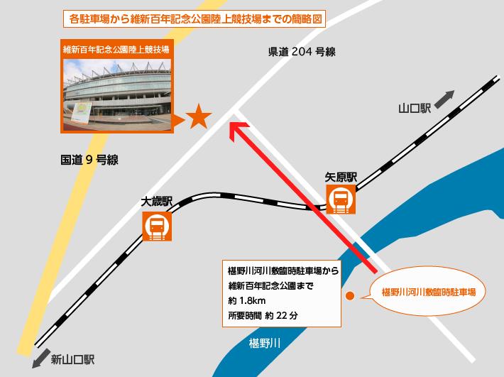駅、駐車場所要時間(ふしの川)